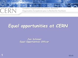 Equal opportunities at CERN