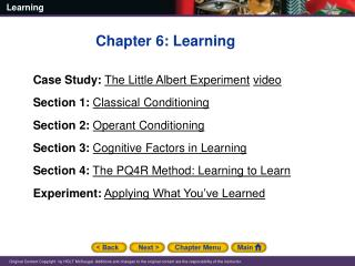Chapter 6: Learning Case Study: The Little Albert Experiment video