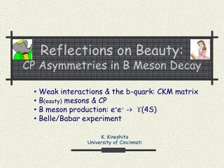Reflections on Beauty: CP Asymmetries in B Meson Decay