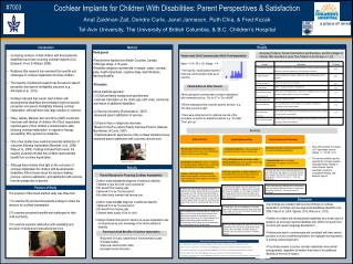 Cochlear Implants for Children With Disabilities: Parent Perspectives & Satisfaction