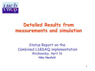Detailed Results from  measurements and simulation