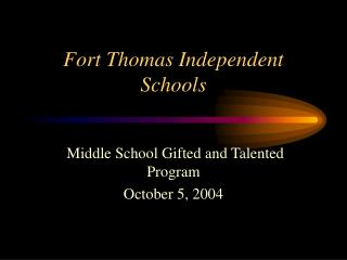 Fort Thomas Independent Schools