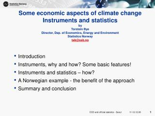 Introduction Instruments, why and how? Some basic features! Instruments and statistics � how?