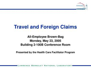Travel and Foreign Claims