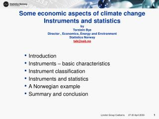 Introduction Instruments – basic characteristics Instrument classification