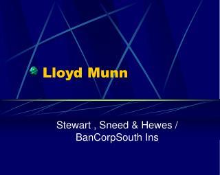Lloyd Munn