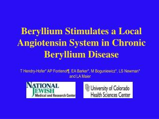 Beryllium Stimulates a Local Angiotensin System in Chronic Beryllium Disease