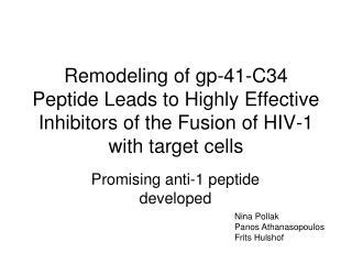 Promising anti-1 peptide developed