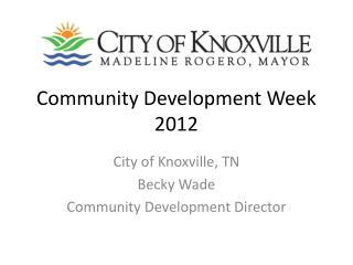 Community Development Week 2012