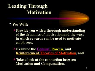 Leading Through               Motivation