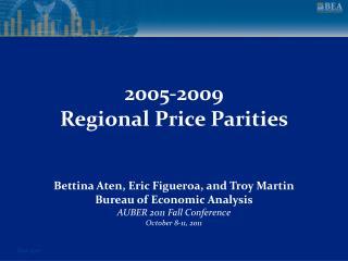 2005-2009 Regional Price Parities