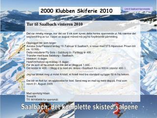 2000 Klubben Skiferie 2010