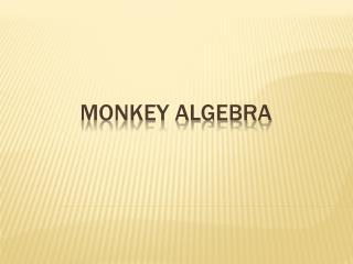 MONKEY Algebra