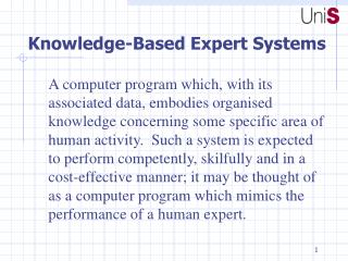 Knowledge-Based Expert Systems