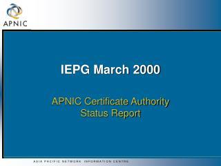 IEPG March 2000