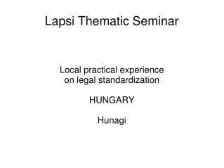 Lapsi Thematic Seminar