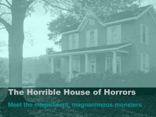 The Horrible House of Horrors