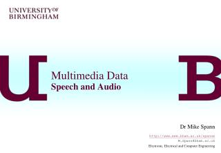 Multimedia Data Speech and Audio