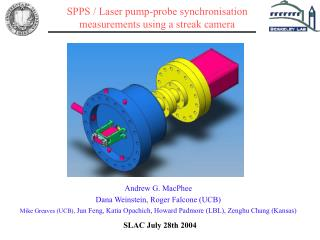SPPS / Laser pump-probe synchronisation measurements using a streak camera