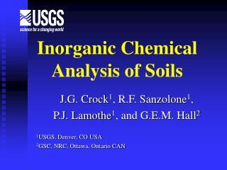 Inorganic Chemical Analysis of Soils