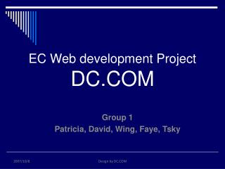 EC Web development Project DC.COM