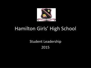 Hamilton Girls' High School