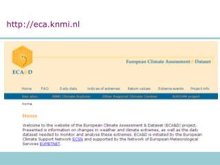 eca.knmi.nl