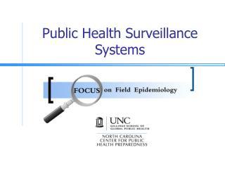 Public Health Surveillance Systems