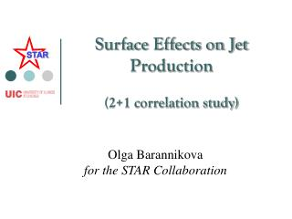 Surface Effects on Jet Production (2+1 correlation study)