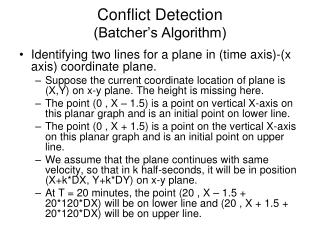 Conflict Detection (Batcher's Algorithm)