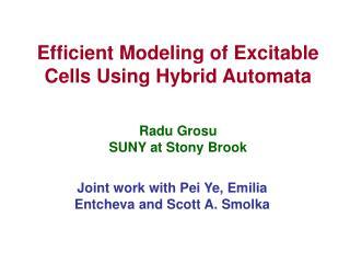 Efficient Modeling of Excitable Cells Using Hybrid Automata Radu Grosu SUNY at Stony Brook
