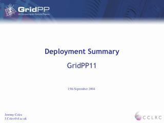 Deployment Summary