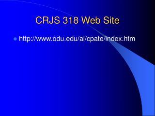 CRJS 318 Web Site