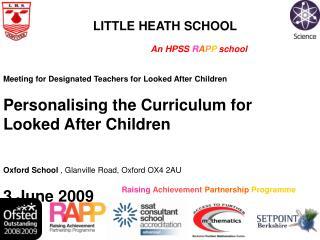 Raising Achievement Partnership Programme