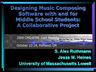 Designing Music Composing Software with and for  Middle School Students:  A Collaborative Project