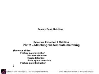 Feature Point Matching