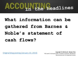 What information can be gathered from Barnes & Noble's statement of cash flows ?