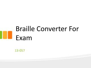 Braille Converter For Exam