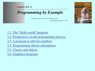 Chapter 2 Programming by Example