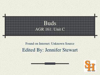 Buds AGR 161: Unit C