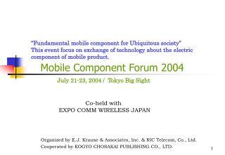 Mobile Component Forum 2004