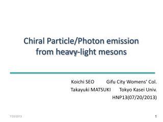 Koichi SEO          Gifu City Womens' Col.  Takayuki MATSUKI       Tokyo Kasei Univ.