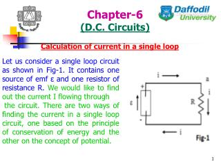 Chapter-6 (D.C. Circuits)