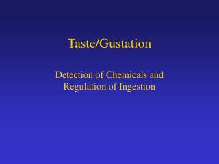 Taste/Gustation