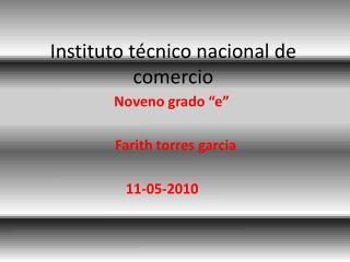 Instituto técnico nacional de comercio