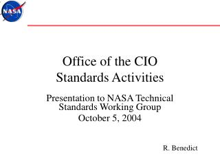 Office of the CIO  Standards Activities