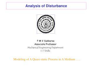 Analysis of Disturbance