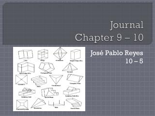 Journal Chapter  9 – 10