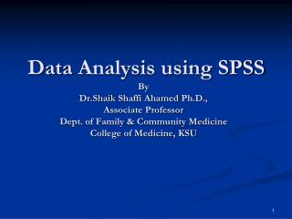 Features of SPSS