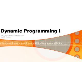 Dynamic Programming I